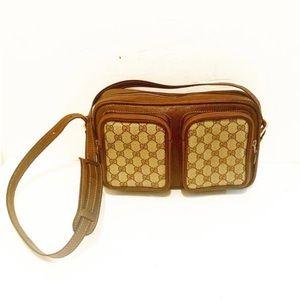 Authentic Gucci Vintage GG Plus Web Crossbody Bag